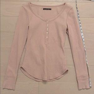 A&F Medium Pink Long Sleeve Top